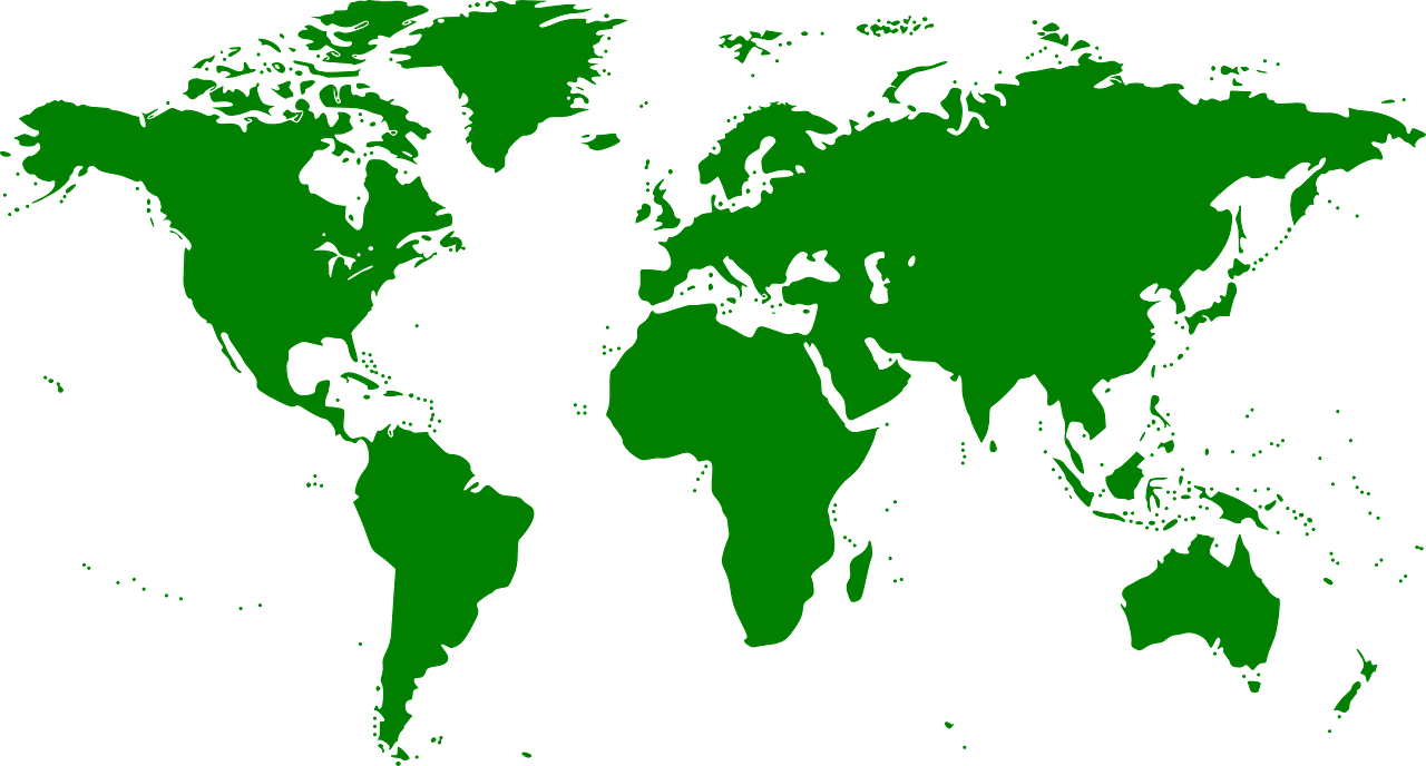 Image of World Map in Green
