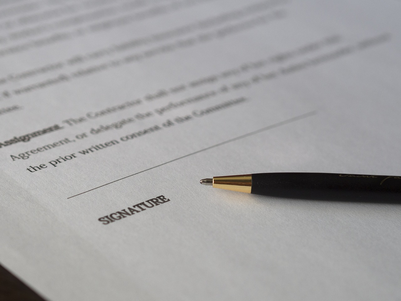 Image of Contract Signature